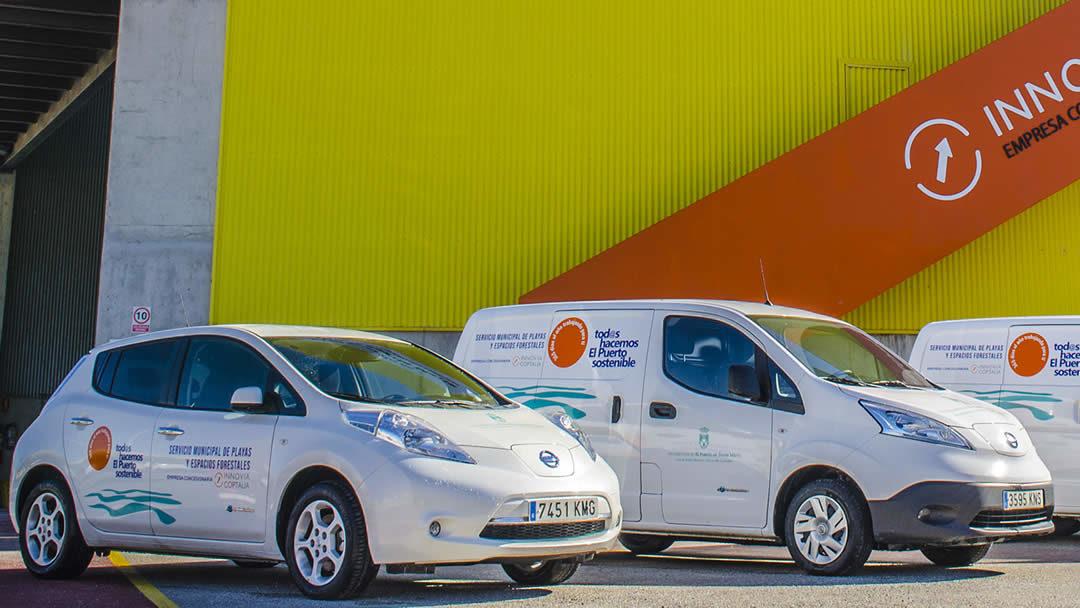 Vehículos eléctricos en el Puerto de Santa María. Innovia Coptalia