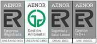 Conjunto de Sellos AENOR de Innovia Coptalia